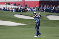 Raffa Cabrera-Bello (Team Europe) on the 1st fairway during the Friday afternoon fourball at the Ryder Cup, Hazeltine national Golf Club, Chaska, Minnesota, USA.  30/09/2016<br /> Picture: Golffile | Fran Caffrey<br /> <br /> <br /> All photo usage must carry mandatory copyright credit (&copy; Golffile | Fran Caffrey)