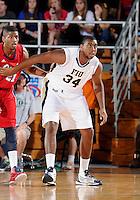 Florida International University center Joey De La Rosa (34) plays against Florida Atlantic University, which won the game 66-64 on January 21, 2012 at Miami, Florida. .