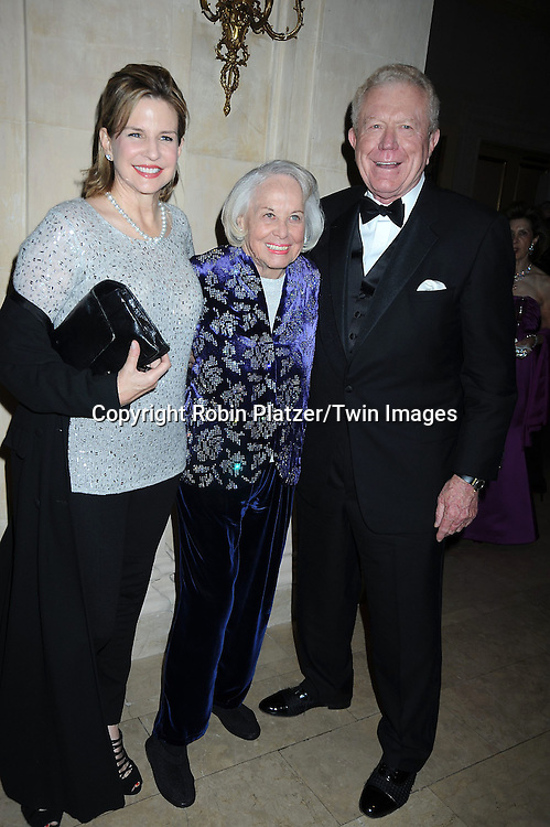 Paige Peterson, Liz Smith and Ben Barnes  posing for photographers at The New York Landmarks Conservancy 2010 Living Landmarks Celebration on November 3, 2010 at The Plaza Hotel in  New York City. The honorees were Graydon Carter, Larry Silverstein, Marlo Thomas and Phil Donahue, Jonathan Tisch, Bunny Williams and Howard Dodson, Jr, .photo by Robin Platzer/ Twin Images