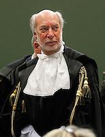 Maurizio Paniz avvocato difensore di lavitola  in aula durante il processo per la compravendita dei senatori il processo