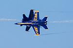 Blue Angels perform knife-edge pass during 2006 Fleet Week airshow in San Francisco