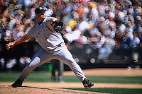 OAKLAND, CA - Roger Clemens of the New York Yankees in action during a game against the Oakland Athletics at the Oakland Coliseum in Oakland, California in 2003. Photo by Brad Mangin