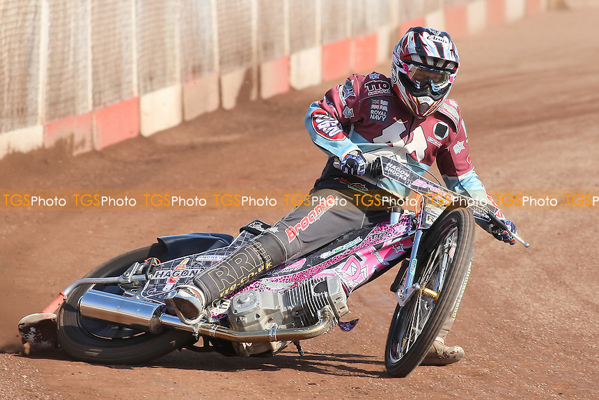 Robert Mear of Lakeside Hammers in racing action - Lakeside Hammers Speedway Press & Practice Day at Arena Essex Raceway, Purfleet - 20/03/12 - MANDATORY CREDIT: Gavin Ellis/TGSPHOTO - Self billing applies where appropriate - 0845 094 6026 - contact@tgsphoto.co.uk - NO UNPAID USE.