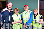 Charity Walk: Pictured at St Patricks Hall, Listowel, on Friday morning before they set off on the charity walk in aid of The Irish Hospice Foundation are l-r: Jerry Hannon, Kay Hanley, John McConnell  & Helen Duggan, Listowel.