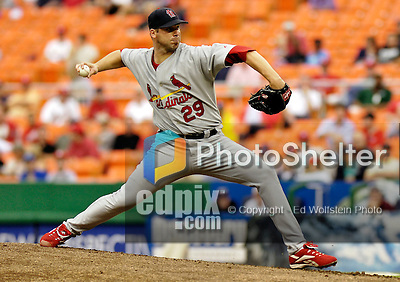 6 September 2006: Chris Carpenter, starting pitcher for the St. Louis Cardinals, on the mound against the Washington Nationals. The Nationals defeated the Cardinals 7-6 at Robert F. Kennedy Memorial Stadium in Washington, DC. ..Mandatory Photo Credit: Ed Wolfstein..