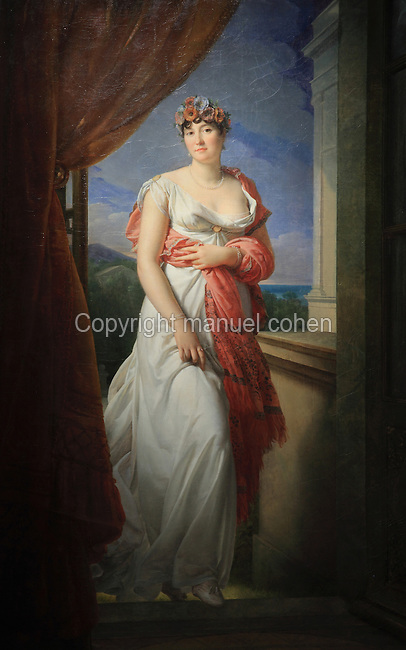 Madame Tallien, 1773-1835, social figure during the French Revolution, later Princess of Chimay, painted 1804 by Francois Pascal Simon Gerard, 1770-1837, from the collection of the Chateau de Versailles et de Trianon, France. Picture by Manuel Cohen