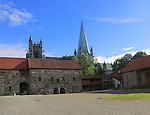 Cathedral and Armoury museum, National Military Museum, Archbishop's Palace Trondheim, Norway
