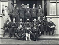 BNPS.co.uk (01202 55883&pound;)<br /> Pic: Spink&amp;Son/BNPS<br /> <br /> Kenneth Cross (front centre) with his squadron.<br /> <br /> The remarkable archive of an RAF officer who was one of six out of 37 men to survive three days adrift in the freezing Arctic Ocean have come to light.<br /> <br /> Sir Kenneth Cross had already cheated death by dodging a bullet aimed for his head in the cockpit of his plane when the aircraft carrier he was on was attacked and sunk.<br /> <br /> He plunged into the icy sea and was one of 37 survivors to make it into a lifeboat. With hardly any food or water on board, most of the shipwrecked men died from exposure over the next 70 hours.<br /> <br /> Now a water-stained diary he kept while shipwrecked, his RAF log book and 16 medals are coming up for sale at auctioneers Spink of London.