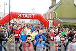 THEIR OFF: Hundreds who ran in the Ballybunion Mini Marathon on Saturday.................................................................. ........