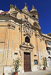 Our Lady of Liesse church frontage, Valletta, Malta built 1740