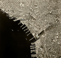 historical aerial photograph San Diego, California, 1966