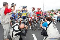 Alejandro Valverde (r), Alberto Contador (l) and Joaquin Purito Rodriguez during the stage of La Vuelta 2012 between Barakaldo and Valdezcaray.August 21,2012. (ALTERPHOTOS/Paola Otero) /NortePhoto.com
