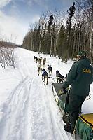 Jeff King on Trail Leaving Kaltag AK WE 2005 Iditarod Winter