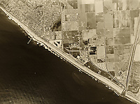 historical aerial photograph Huntington Beach, California, 1963
