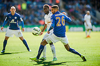 LEICESTER, ENGLAND - APRIL 18: during the Premier League match between Leicester City and Swansea City at The King Power Stadium on April 18, 2015 in Leicester, England.  (Photo by Athena Pictures/Getty Images)
