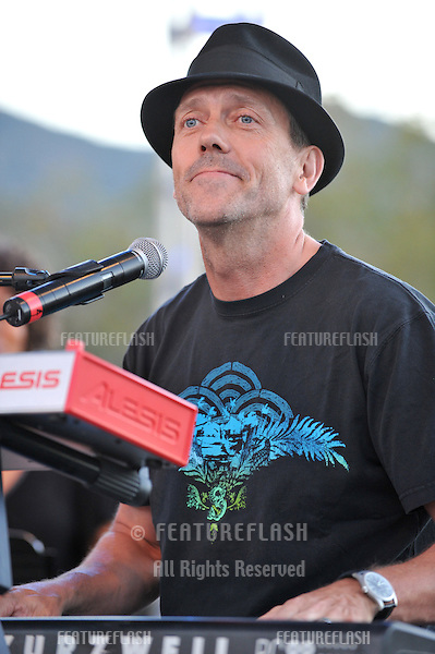 """House"" star Hugh Laurie at the Netflix Live on Location concert, at The Autry National Center of the American West, where he performed with the ""Band from TV."".August 9, 2008  Los Angeles, CA.Picture: Paul Smith / Featureflash"