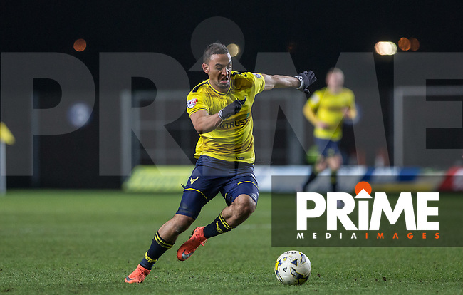 Kemar Roofe of Oxford United in action during the Sky Bet League 2 match between Oxford United and Dagenham and Redbridge at the Kassam Stadium, Oxford, England on 15 March 2016. Photo by Andy Rowland.