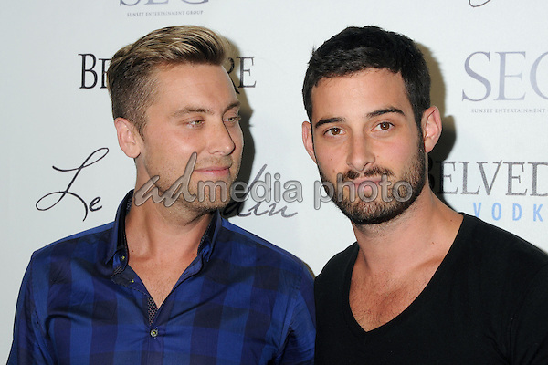 4 June 2015 - Hollywood, California - Lance Bass, Michael Turchin. Le Jardin Grand Opening held at Le Jardin. Photo Credit: Byron Purvis/AdMedia