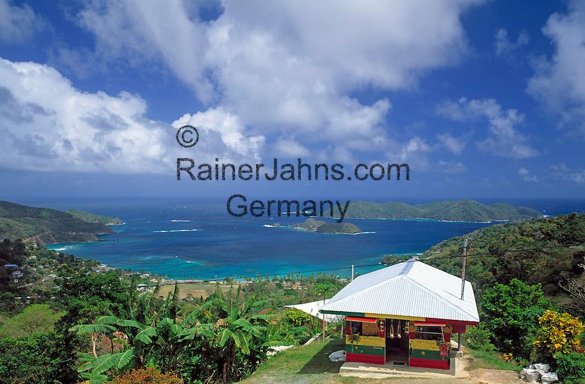 Trinidad & Tobago, Commonwealth, Tobago, Speyside: Tyrrels Bay with Goat Island and Little Tobago