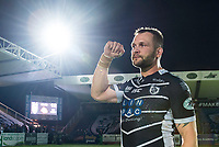 Picture by Allan McKenzie/SWpix.com - 11/05/2017 - Rugby League - Ladbrokes Challenge Cup - Featherstone Rovers v Halifax RLFC - The LD Nutrition Stadium, Featherstone, England  - Darrell griffin thanks the fans for their support.