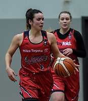 Shea Crotty in action during the 2018 Women's Basketball League match between Canterbury Wildcats and Taranaki Thunder at Cowles Stadium in Christchurch, New Zealand on Sunday, 24 June 2018. Photo: Dave Lintott / lintottphoto.co.nz
