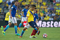 Action photo during the match Brazil vs Ecuador, Corresponding Group -B- America Cup Centenary 2016, at Rose Bowl Stadium<br /> <br /> Foto de accion durante el partido Brasil vs Ecuador, Correspondiante al Grupo -B-  de la Copa America Centenario USA 2016 en el Estadio Rose Bowl, en la foto: Christian Noboa de Ecuador<br /> <br /> <br /> 04/06/2016/MEXSPORT/Victor Posadas.