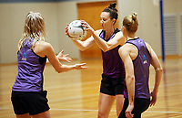 29.08.2017 Silver Ferns Bailey Mes in action during the Silver Ferns training in Auckland. Mandatory Photo Credit ©Michael Bradley.