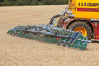 Contractors spreading pig slurry on to stubble <br /> &copy;Tim Scrivener Photographer 07850 303986<br />      ....Covering Agriculture In The UK....