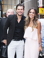 NEW YORK, NY-September 07: Gleb Savchenko, Jana Kramer at The Stars of Dancing with Stars Season 23 Press Junket  at Planet Hollywood Time Square in New York. NY September 07, 2016. Credit:RW/MediaPunch