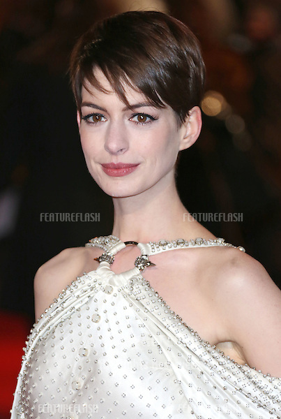 Anne Hathaway arriving at the World Premiere of 'Les Miserables' held at the Odeon & Empire Leicester Square, London. 05/12/2012 Picture by: Henry Harris / Featureflash