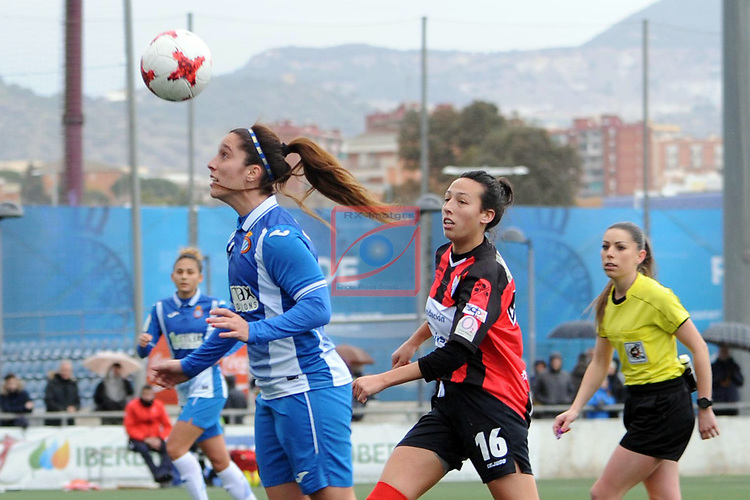 Spanish Women's Football League Iberdrola 2017/18 - Game: 18.<br /> RCD Espanyol vs Sporting Huelva: 1-0.<br /> Cristina Baudet vs Sandra Castello.