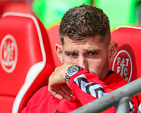 Fleetwood Town's Ched Evans sits on the bench<br /> <br /> Photographer Alex Dodd/CameraSport<br /> <br /> The EFL Sky Bet League One - Fleetwood Town v Accrington Stanley - Saturday 15th September 2018  - Highbury Stadium - Fleetwood<br /> <br /> World Copyright &copy; 2018 CameraSport. All rights reserved. 43 Linden Ave. Countesthorpe. Leicester. England. LE8 5PG - Tel: +44 (0) 116 277 4147 - admin@camerasport.com - www.camerasport.com