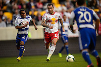 Jonny Steele (22) of the New York Red Bulls. The New York Red Bulls defeated FC Dallas 1-0 during a Major League Soccer (MLS) match at Red Bull Arena in Harrison, NJ, on September 22, 2013.