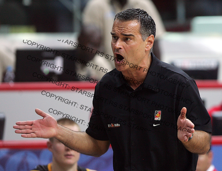 Dirk BAUERMANN, head coach,  during the World championship basketball match against Serbia in Kayseri, Serbi - Germany, Turkey on Sunday, Aug. 29, 2010.(Novak Djurovic/Starsportphoto.com).