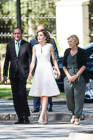 Health Minister Alfonso Alonso, Queen Letizia of Spain and Madrid Mayor Manuela Carmena during the 25th edition of FEDEPE Awards at Jardines de Cecilio Rodriguez in Madrid, Spain. July 26, 2016. (ALTERPHOTOS/BorjaB.Hojas)