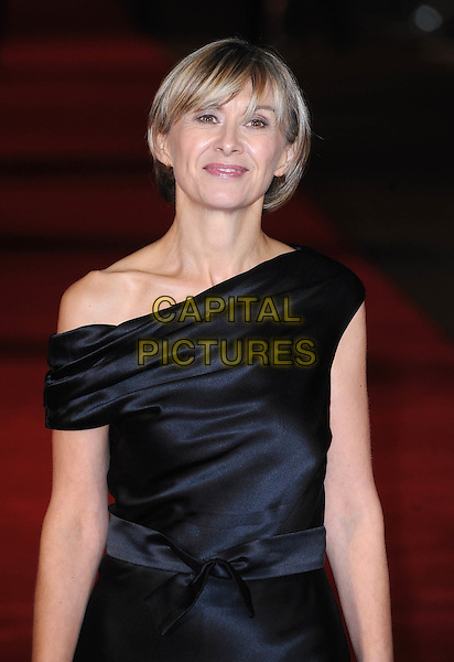 "SANDRA HEBRON .Attending The European Premiere of ""127 Hours"" during the closing gala of the 54th BFI London Film Festival, Odeon Leicester Square, London..28th October 2010.LFF half  length off the shoulder  black dress bow silk satin .CAP/BEL.©Tom Belcher/Capital Pictures."