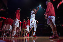February 23, 2014: David Rivers (2) of the Nebraska Cornhuskers being introduced before the game against the Purdue Boilermakers at the Pinnacle Bank Arena, Lincoln, NE. Nebraska 76 Purdue 57.