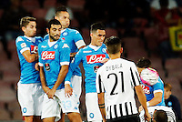 during the  italian serie a soccer match,    at  the San  Paolo   stadium in Naples  Italy , September 26 , 2015