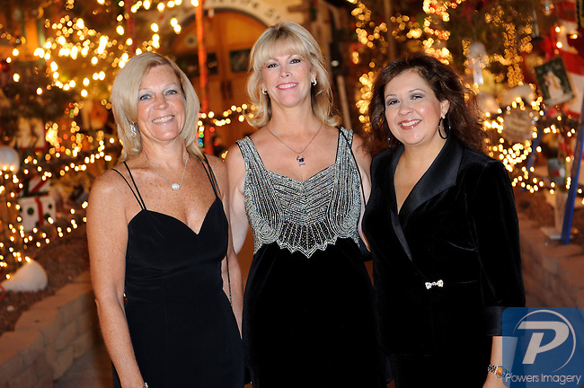 Donna Hash, Karen Godfrey, Therri Hansen at Camelot at the Magical Village, Las Vegas, NV, November 6, 2010© Al Powers, VEGAS Magazine