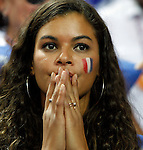 French national basketball team supporter and Joakim Noah sister before start of final Eurobasket 2011 game between Spain and France in Kaunas, Lithuania, Sunday, September 18, 2011. (photo: Pedja Milosavljevic)