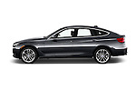 Car Driver side profile view of a 2017 BMW 3-Series 330i-Gran-Turismo 5 Door Hatchback Side View