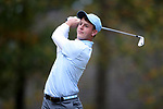 GREENSBORO, NC - OCTOBER 29: UNC's William Register on the 3rd tee. The third round of the UNCG/Grandover Collegiate Men's Golf Tournament was held on October 29, 2017, at the Grandover Resort East Course in Greensboro, NC.