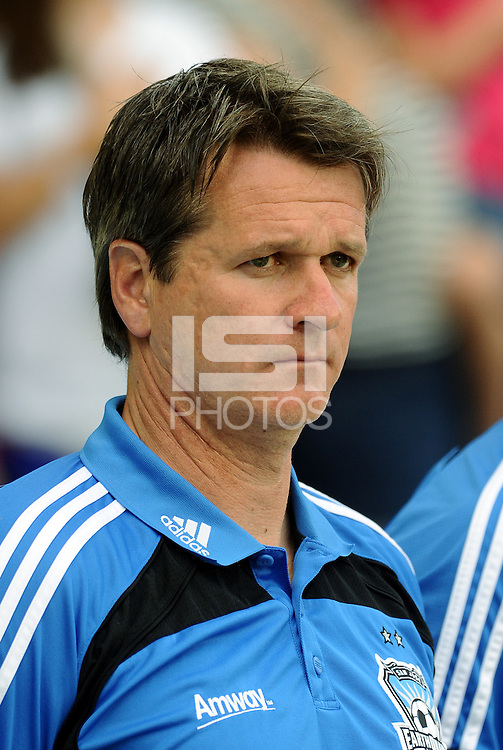 Frank Yallop San Jose Earthquakes Head Coach... Sporting KC defeated San Jose Earthquakes 1-0 at LIVESTRONG Sporting Park, Kansas City, Kansas.