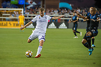 SAN JOSE,  - AUGUST 31: Oriol Rosell #20 of the Orlando City SC during a game between Orlando City SC and San Jose Earthquakes at Avaya Stadium on September 1, 2019 in San Jose, .