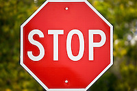 Stop road sign on Anna Maria Island, Florida, United States of America