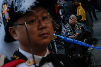 Military members and war veterans take part in the annual Veterans Day parade in New York.  10.11.2014. Eduardo Munoz Alvarez/VIEWpress