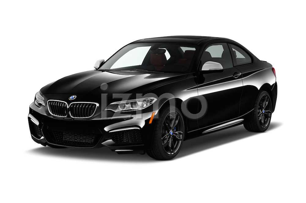 2016 BMW 2 Series M235i 2 Door Coupe Angular Front stock photos of front three quarter view