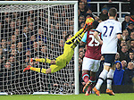 Tottenham's Hugo lloris makes a superb save from West Ham's Mark Noble<br /> <br /> - English Premier League - West Ham Utd vs Tottenham  Hotspur - Upton Park Stadium - London - England - 2nd March 2016 - Pic David Klein/Sportimage
