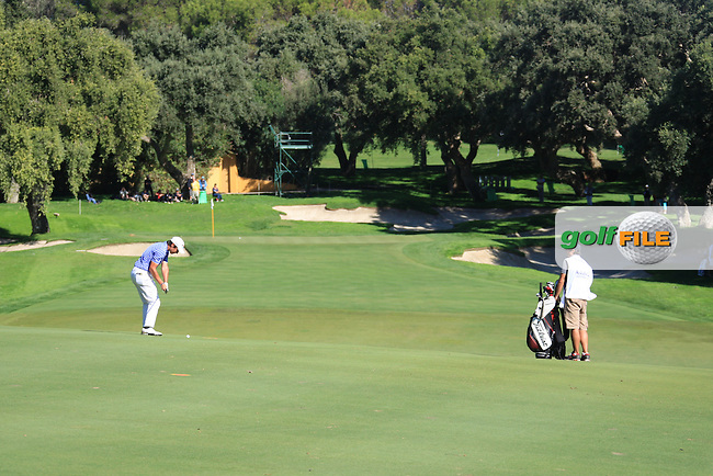Matteo Manassero (ITA) during the 2nd day at the  Andalucía Masters at Club de Golf Valderrama, Sotogrande, Spain. .Picture Fran Caffrey www.golffile.ie