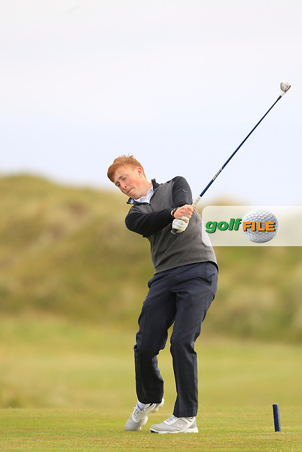 Bill Hannan (Carton House) on the 2nd tee during Round 3 of the Ulster Boys Championship at Castlerock Golf Club on Wednesday 2nd July 2015.<br /> Picture:  Golffile | Thos Caffrey